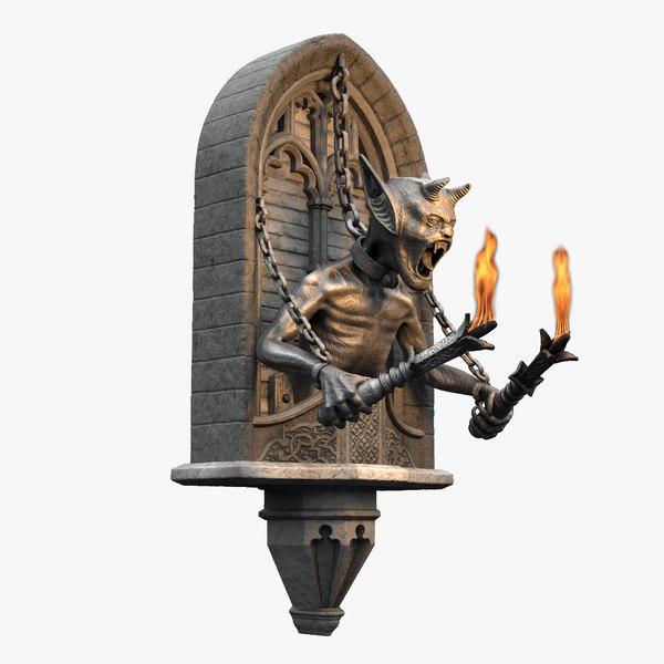 3D gothic demon