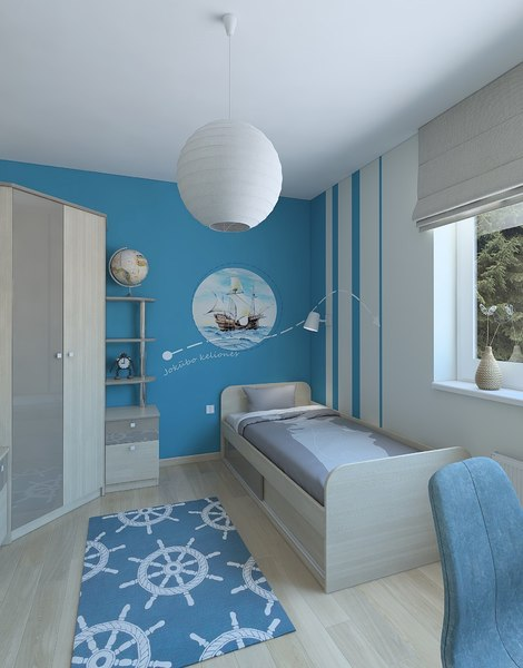 3D model bedroom interior