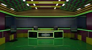 3D tv studio room