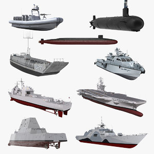 3D warships 4 stealth ship