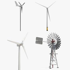 wind turbines 3 3D model