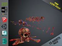 3D skulls1 meat bones