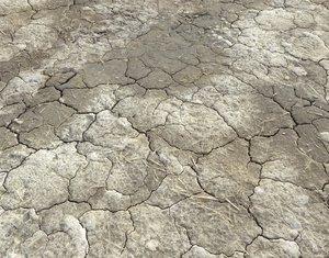 Cracked Wasteland ground texture PBR