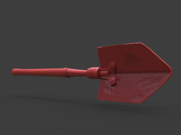 3D old steampunk shovel printing model