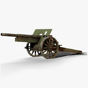 k14 cannon ww1 3D model