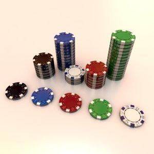 fiche casino 3D model