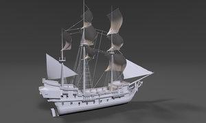 pirat ship 3D model