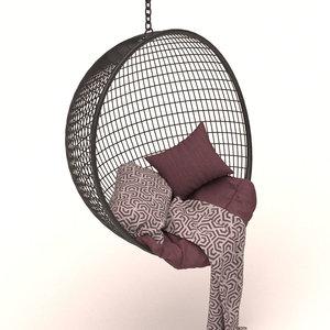 3D garden swing hanging chair