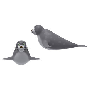 3D cartoon seal