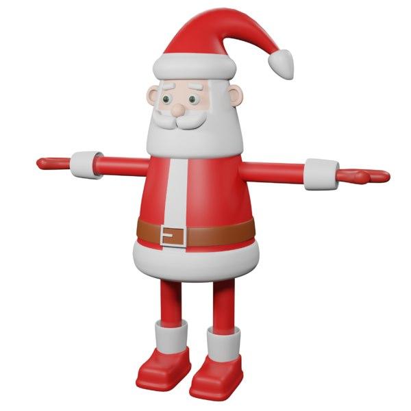 3D model santa sack gifts
