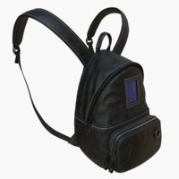 3D backpack leather realistic model