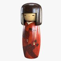 kokeshi sosaku doll model