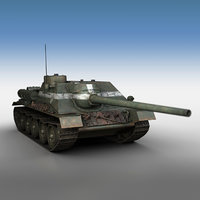 su-100 - tank 3D model
