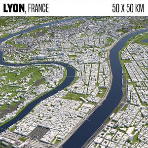 france lyon 3D model