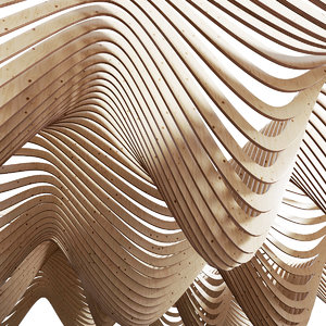 parametric wood ceiling 3D model