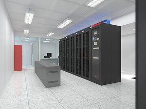 3D computer server room 2
