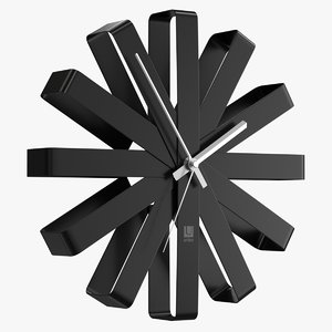 3D realistic wall clock umbra