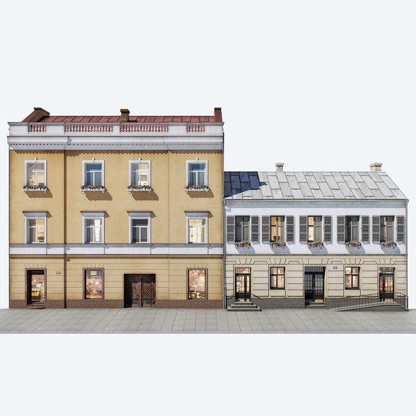 residential buildings 3D model