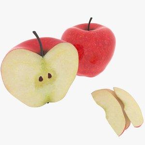 realistic apple 3D model