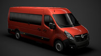 3D vauxhall movano l4h2 minibus model
