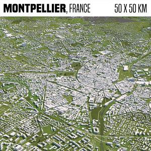 3D model france montpellier