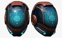Helmet scifi fantasy pilot military combat cyborg robot