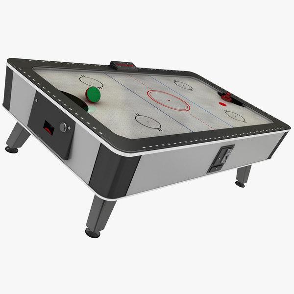 3D air hockey table