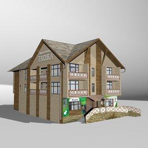 3D hotel troika model