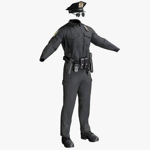 police 3D model