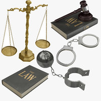 courtroom prison equipments 3D