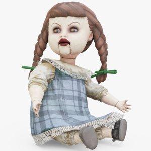 3D model doll creepy
