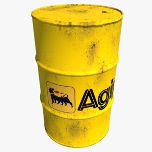 barrel agip oil 3D model