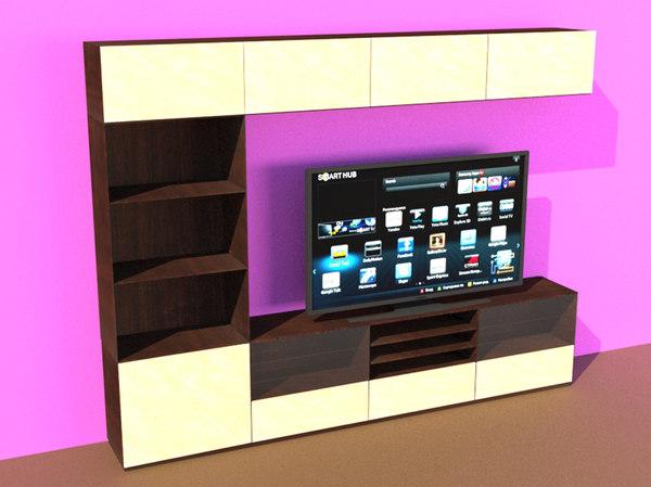 3D besta tv storage
