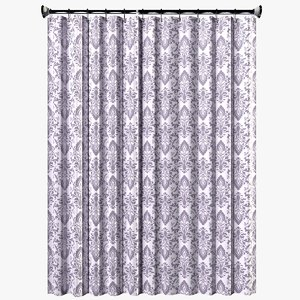 shower curtain 3D model