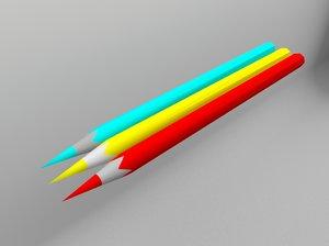 3D model arnold pensil