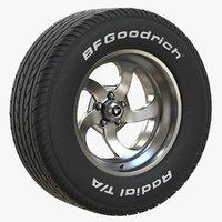 3D bfgoodrich tire rim