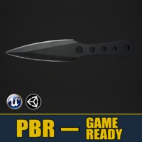 3D model knife weapons