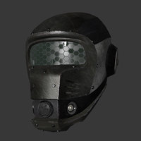 Low poly Scifi Helmet