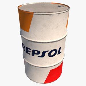 3D barrel epsol oil