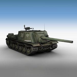 isu-122 - 316 tank gun 3D model