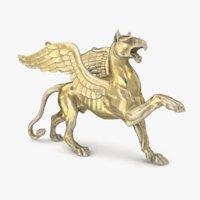 griffin statue mythological 3D model