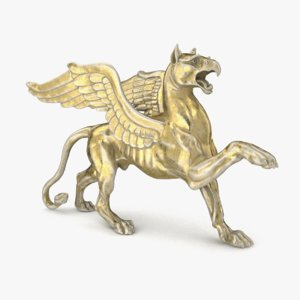 griffin statue mythological 3D model