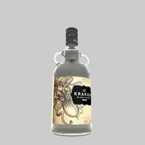 3D model bottle kraken rum