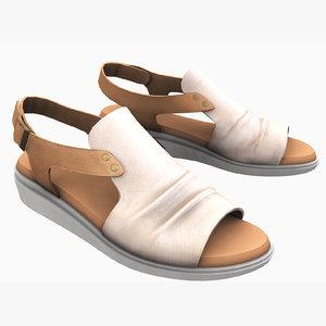 3D model womans shoe casual