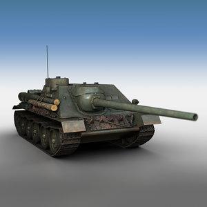 3D su-100 - tank