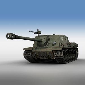 isu-122s - 245 tank gun 3D