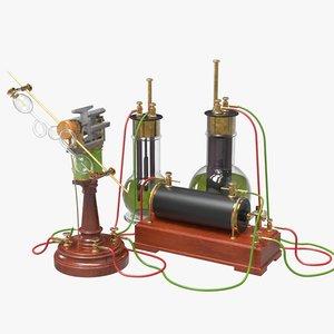 3D model motor set 1