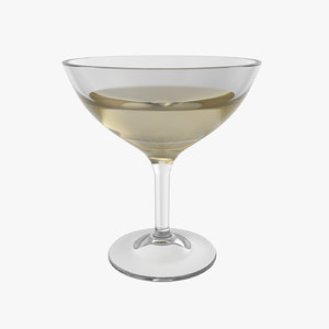 champagne coupe wine glass model