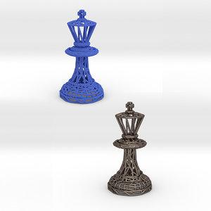 king piece chess queen model