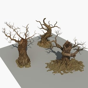 3D model withered tree